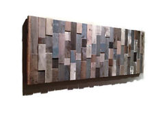 Handmade Barn Wood Wall Art, Modern Abstract Artwork, Unique Art, Rustic Decor