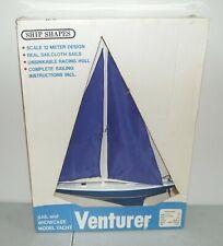 """New! Vtg Ship Shapes 1970's """"Venturer"""" Sailboat/ Model Yacht (Large 21"""") Boat"""