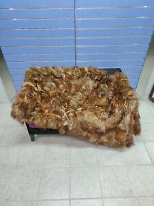 Luxury Red Fox Fur Throw Real Fox Fur Blanket /Bedspread LAST ONE -50%