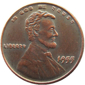 US 1955 Double Wheat Penny One Cent Copper Coin Type2