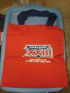 1988 Vintage SUPER BOWL XXIII/23 Red tote nylon BAG San Francisco 49ers jersey