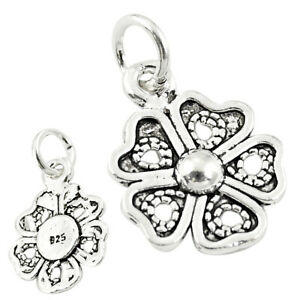 DAILY DEALS Four-leaf Clover Good Luck Sterling Silver Baby Pendant C21182