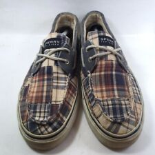 Sperry Top-Sider Mens Bahama Boat Shoes Plaid Lace Up Moc Toe Low Top 12 M