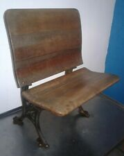 RARE VINTAGE Cast Iron & Wood Folding Student Desk Chair. BUFFALO HARDWARE Co #5