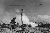 "American Plane sweeps over Marines South Pacific 4""x 6"" World War II WW2 Photo 3"