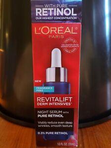 NIB L'Oréal Paris Revitalift Derm Intensives NIGHT SERUM with 0.3% PURE RETINOL
