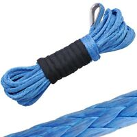 """50' X 1/4"""" Dyneema Synthetic Winch Rope Cable 5000 ATV SUV Recovery Replacement"""