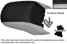 BLACK & LIGHT GREY CUSTOM FITS BMW R 1200 RT REAR PASSENGER REAL SEAT COVER