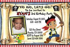 JAKE & NEVERLAND PIRATES CUSTOM BIRTHDAY PARTY INVITATION & TY CARD U PRINT