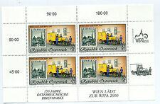 Austria 1998 stamp and postvan minisheet sheet mint