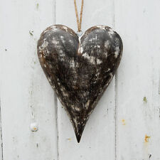 Fair Trade Mango Wood Wooden Heart Hanging - Eco Friendly, Sustainable, WFTO