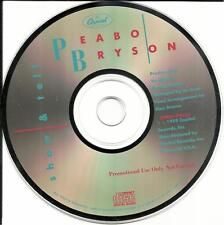 PEABO BRYSON Show & tell USA 1989 PROMO Radio DJ CD single MINT DPRO79553 and