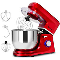 Electric Food Stand Mixer 6 Speed 7.5Qt 660W Tilt-Head Stainless Steel Bowl New