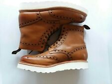 Nice Fancy Casual Leather Brogue Oxford Biker Boots by Grenson England