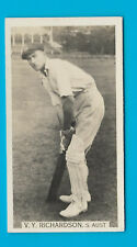 WILLS 1929 CRICKET SEASON V.Y.RICHARDSON (S.AUST) CIGARETTE CARD