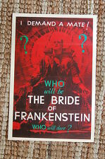 The Bride of Frankenstein Lobby Card Movie Poster