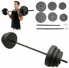 100 Lbs Weight Set 10-15-25 Plates 1 Bar Collars Full Body Workout Home Gym Lift