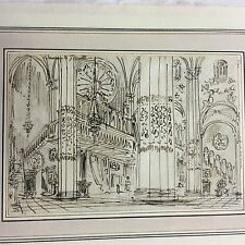 Antique Pen & Ink Drawing Attributed To Old Master Baldassare Cavallotti