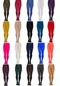 Womens Opaque Microfibre Tights 60 Denier 18 Colours