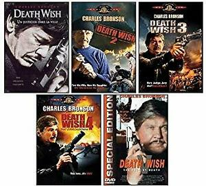 Death Wish 1 2 3 4 5 DVD Collection Charles Bronson New and Sealed Australian