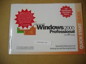 MICROSOFT WINDOWS 2000 PROFESSIONAL w/SP2 FULL OPERATING SYSTEM MS WIN PRO =NEW=