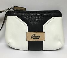 GUESS Belvedere Black & White PURSE WRISTLET CLUTCH *NEW* ~FREE SHIPPING~