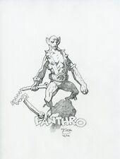 Mike Mignola Original Panthro ThunderCats Pencil Sketch
