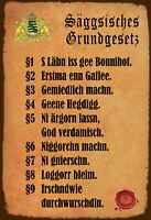 Sächsisches Grundgesetz Blechschild Schild gewölbt Tin Sign 20 x 30 cm FA1763