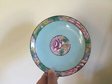 Art Deco Shelley China Saucer Dish Plate Bowl Flowers Turquoise Porcelain