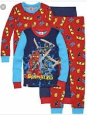 New Lego Ninjago Pajamas Boys Size 4 2 Piece set Snug Fit Cotton 2 Sets 4T