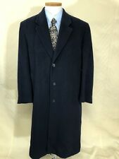 Allyn Saint George American Couture Blue Classic Cashmere Blend Overcoat 54 Long