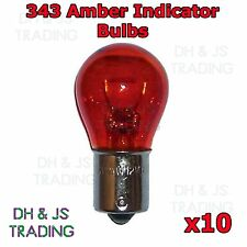 10 x 343 Amber Bulbs Indicator 12v 21w SSC BA15S Flasher Orange Signal Car Bulb