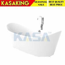 Bathtub White Free Standing Acrylic 1700 X 800 X 720mm Adjustable Feet Pop-Up