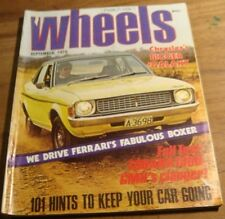 1974.WHEELS.FERRARI BB Boxer.LANCIA BETA.MINI.HOLDEN Torana 1900.Datsun 260C