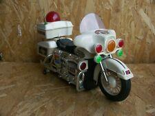 Vintage 1984 Son Ai Toy SA-170 Police Bike Motorrad Licht Sirene Antrieb funkt