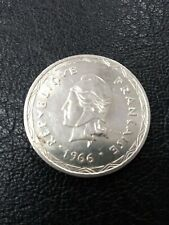 France - New Hebrides 1966 100 Francs Silver Coin