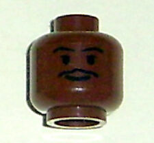 LEGO Star Wars - Minifig, Head Thin Moustache w/ Grin - (Lando Calrissian)