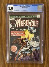 Werewolf By Night #33  ~ CGC 8.0 (2nd App of Moon Knight) Disney+ White Pages!