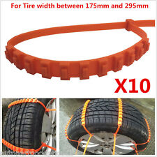 10Pcs Auto Car Snow Wheel Tyre Tire Antiskid Chains Slip Chains Thickened Tendon