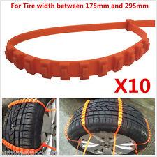 10Pcs Auto Car Snow Wheel Tyre Tire Antiskid Chains Slip Chains Thickened Tendon
