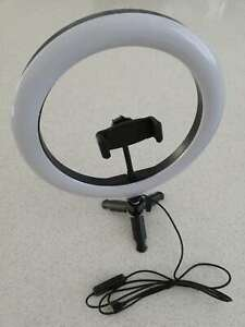"""Fodoto 10"""" LED BiColor Dimmable Ring Light Mini Tripod Stand Video/Photo/Social"""