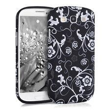 kwmobile Tpu Schutz Hülle für Samsung Galaxy S3 S3 Neo Blumentapete Weiß Cover