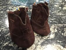 Build A Bear Shoes Brown Suede Western Cowboy Boots Stitching Design On Side S1