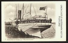 POSTCARD UNION CASTLE SS BRAEMAR CASTLE SOUTH AFRICA SERVICE CORPS BOER WAR 1900