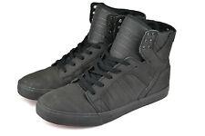 SUPRA FOOTWEAR - SKYTOP SNEAKERS SHOES - BLACK SATIN TUF - 100% AUTHENTIC