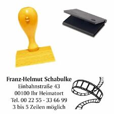 Adressenstempel « FILMROLLE » mit Kissen - Firmenstempel