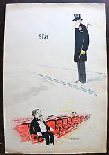 """SEM, LITHOGRAPHIE ORIGINALE,(1898), """"Le père Pascal"""" et """" le Consul d'Espagne """""""