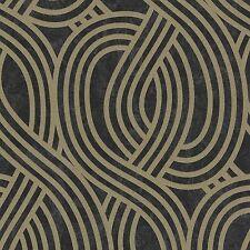 Carat Black and Gold Glitter Art Deco Wallpaper Paste the Wall Vinyl 13345-80