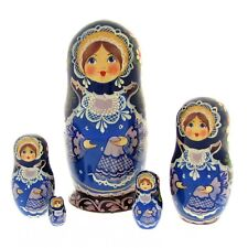 5 Poupées russes H16 peint main signé Matriochka Russian Nested Dolls Matrioshka