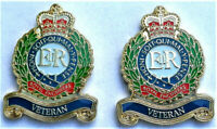 2 x BRAND NEW MILITARY ENAMEL BADGE ROYAL ENGINEERS VETERAN BRITISH ARMY GREAT